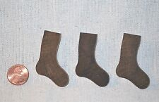 "12 Little Unfinished Stained Wood Christmas Stocking ... 1-7/8"" H  x  1/8"" thick"