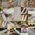 1/3/5 Yards Embroidered Edge Lace Trim Wedding Applique Ribbon DIY Sewing Craft