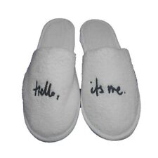 Hello it's me,Terry Towelling, Slipper,100%Soft Cotton, Made in Turkey