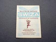 New old stock SWIZA guarantee warranty booklet 60/70s blank NOS garantía NOS 2