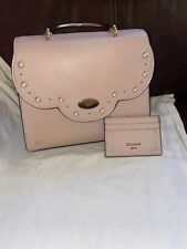 EXTREMELY RARE DUNE BABY PINK HAND BAG WITH DUNE CARD HOLDER.