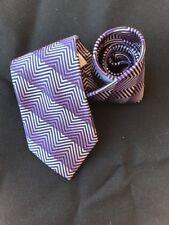 Daniel Craig Neck Tie Geometric Purple Gradient Dress Tie 100% Silk Italy Bond