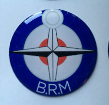 27mm BRM B.R.M RESIN DOME 3D BADGE British Racing Motors BRM