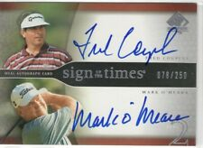FRED COUPLES MARK O'MEARA 2004 SP Authentic SIGN of the TIMES AUTO Autograph 250