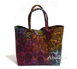 Hippie Star Mandala Tie Dye Cotton Beach Purse Hobo Bag Women Shopping Bag Throw
