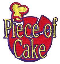 Patch Ecusson patche piece of cake thermocollant décoration cuisine