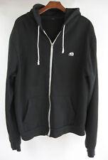 Panda Black Hoodie Jacket Size 46 Chest Full Zip Sweatshirt Fits Large