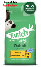 RABBIT FOOD: 2 x Twitch Wagg Rabbit Nuggets 10kg. 20kg of Food (2 x WAG107)