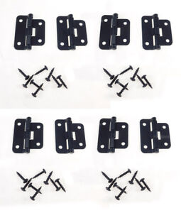 8 Geniune Penn Elcom P0625K Black Take-Apart /2 Piece Lift Off Hinge W/ Screws