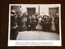Palermo nel 1917 2a Mostra Pro Patria Ars Ministro Ruffini e Sottosegr. Foscari