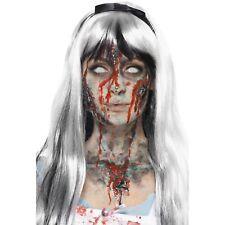 Zombie 4 Colours Liquid Latex Kit Sponges Make Up Face Paint Fancy Dress
