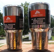 "(2)Custom ""Polished"" 30 Oz. Vacuum Insulated Stainless Steel Ozark Trail Tumbler"