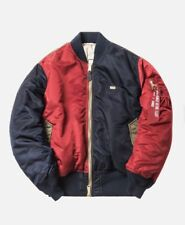 Kith X Alpha Industries MA-1 Bomber Navy Size XL Reversible In Hand Free Ship