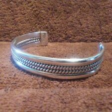 Vintage Sterling Silver Wire Twist Cuff Bracelet made in Taxco Mexico