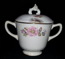 """Homer Laughlin """"Queen Esther"""" Sugar Bowl with (Incorrect) Lid - 3 1/4"""" Tall"""