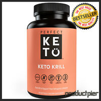 Perfect Keto Antarctic Krill Oil   Highly Potent Omega-3 Supplement w/t EPA, DHA