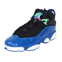 Nike Air Jordan 6 Rings Girls GS 323399 039 Basketball Womens Shoes Blue Vintage