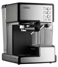 Espresso Coffee Machine Electric Sunbeam Cappuccino Cafe Maker Stainless Steel