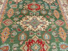 8'x10' New Green Pakistani Super Kazak hand knotted wool Oriental area rug