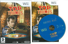 DOCTOR DR WHO TOP TRUMPS NINTENDO Wii =AGE 3+WITH INSTRUCTIONS GAME OF TV SERIES