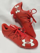 Under Armour Team Nitro Mid Mc Football Cleats Red size 12.5 New 1287492-601