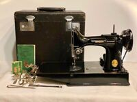 1948 Singer Featherweight Sewing Machine 221 w/Case/Rare-700F Motor(One Owner!)