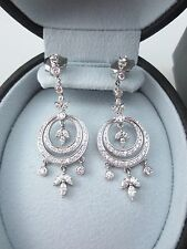 KWIAT 18K WG 2.5 TCW G-H VS2-SI1 DIAMOND CHANDELIER EARRINGS