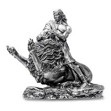20 oz Silver Antique Statue - Samson and the Lion - SKU #131877