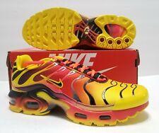 Nike Air Max Plus Chrome Yellow Orange Red Black Youth Size 7Y=Mens 7/Womens 8.5