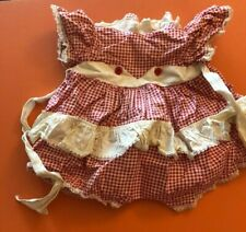 Original outfit for 22 inch 1961 IDEAL Kissy DOLL vintage 60's red gingham set