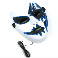 Halloween LED Mask The Purge Movie EL Luminous Costume Rave Party Accessory