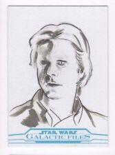 2017 Star Wars Galactic Files Reborn sketch card Alex Iniguez
