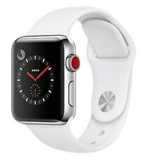 Apple Watch Series 3 - 42mm - Silver Case - White Sport Band (GPS + Cellular)