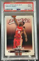 2003 Upper Deck MVP #201 LEBRON JAMES RC PSA 9 Rookie Lakers Cavaliers Mint!