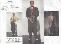 1940s Vintage VOGUE Sewing Pattern Chest 32-34-36 MEN'S ZOOT SUIT (1106R)