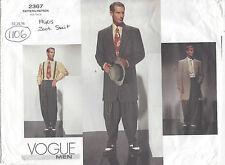 1940s Vintage Vogue Sewing Pattern Chest 38-40-42 Men's Pin Stripe Suit 2367