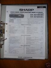 manuel de Service pour Sharp DX-461HM/EM Lecteur CD ORIGINAL