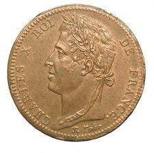 ~~ Charles X: Colonies Générales: 10 Centimes 1828 A, SPL  ~~