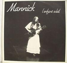 """33 tours MANNICK Disque Vinyle LP 12"""" L'ENFANT SOLEIL - DISC AZ 405 Guitare"""