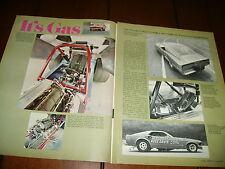1969 FORD MUSTANG GAS RHONDA MACH 1 RACE CAR  ***ORIGINAL ARTICLE***