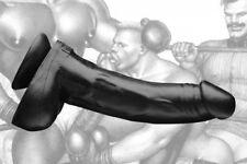 Tom of Finland TPE Magic Lifelike Feeling Realistic Dildo12 Inches - Black