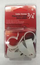 Gardner Bender Ppc-1575 3/4 Inch White Cable Clamps 6 Pack Lot of 3 (New)