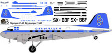 Olympic Douglas DC-3 C-47 airliner decals for Minicraft 1/144 kits