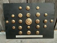 Lot of 23 U.S. army spanish american war antique brass buttons