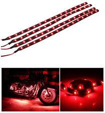 12V 4pcs 30CM/15 LED Car Motors Truck Flexible Strip Light Waterproof Red