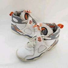 Air Jordan 8 Retro Youth Size 5.5 Stealth Orange Blaze 305368 102
