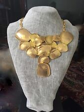 Kenneth Jay Lane (KJL) Gold Bib Cascade Statement necklace! NWT MSRP $208.32