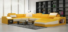 Leather Sofa Corner Big Couch Pads Interior Design with Light New