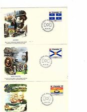 1979 Fleetwood 12 Fdc's Flags Of Canada Complete set not addressed Nh (gary9