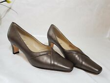 Lotus plus Metalic gold/bronze leather court shoes size 5 Worn Once